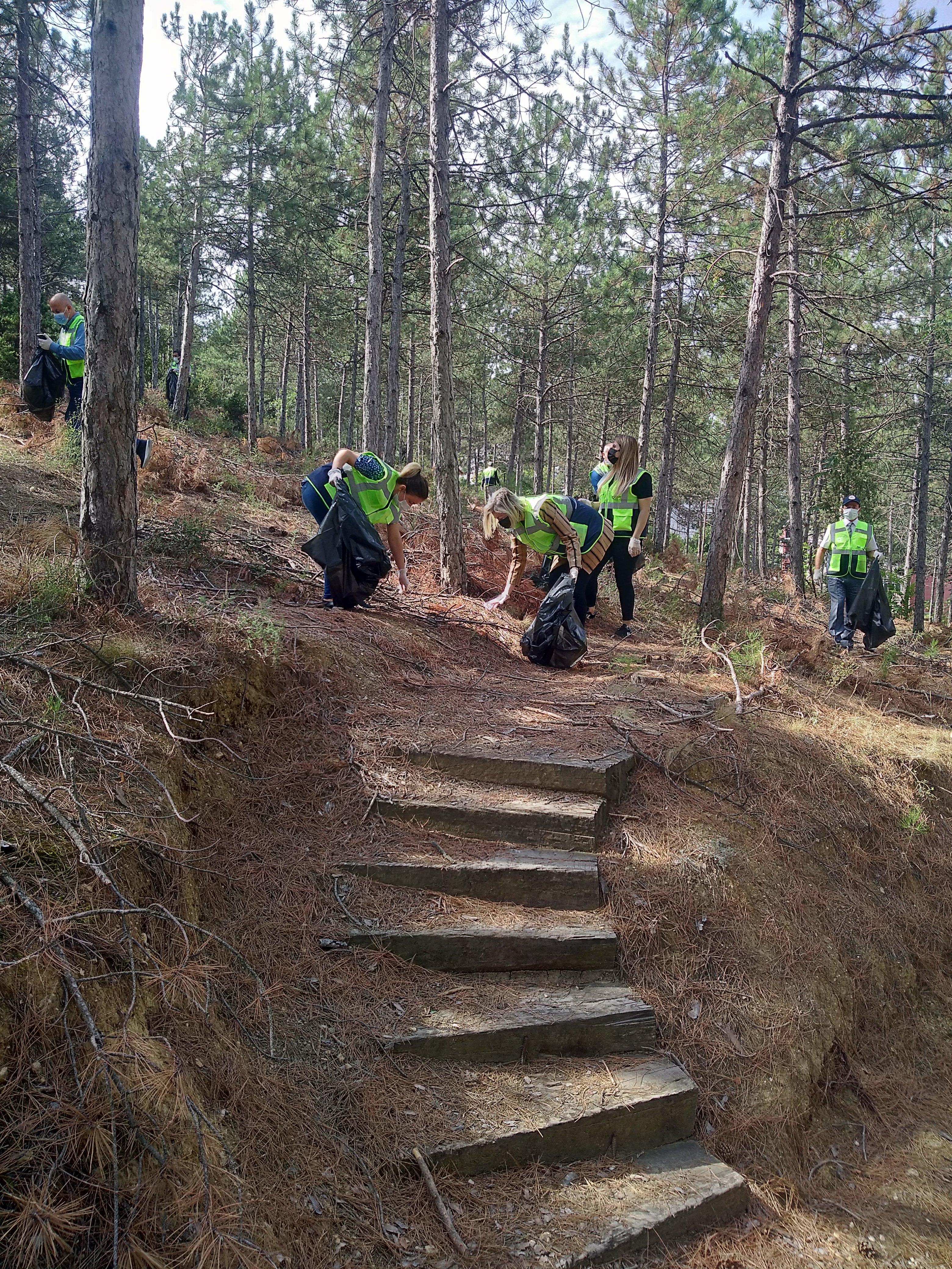 OEDAŞ çalışanları ormanı temizledi 2