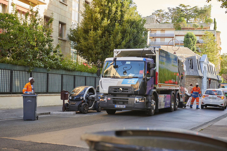 Renault'nun elektrikli kamyonları, Fransa'da evsel atık topluyor 4