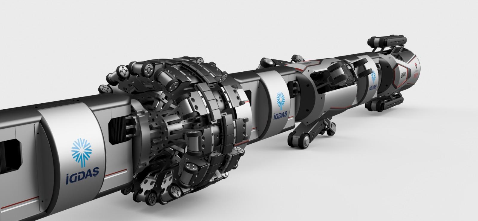 İGDAŞ'ın robotu, boruları içeriden gözleyecek 12