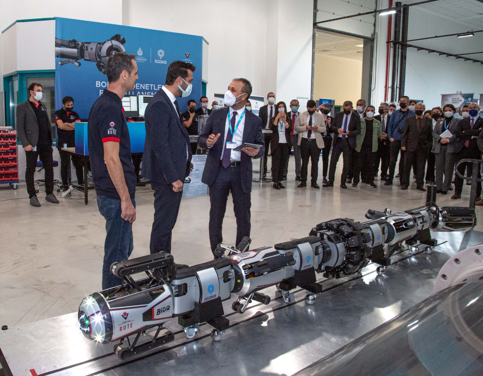 İGDAŞ'ın robotu, boruları içeriden gözleyecek 13