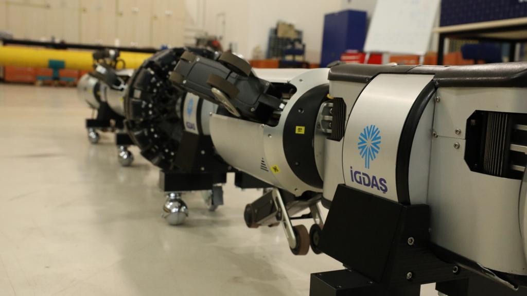 İGDAŞ'ın robotu, boruları içeriden gözleyecek 5