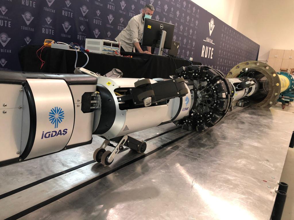 İGDAŞ'ın robotu, boruları içeriden gözleyecek 9