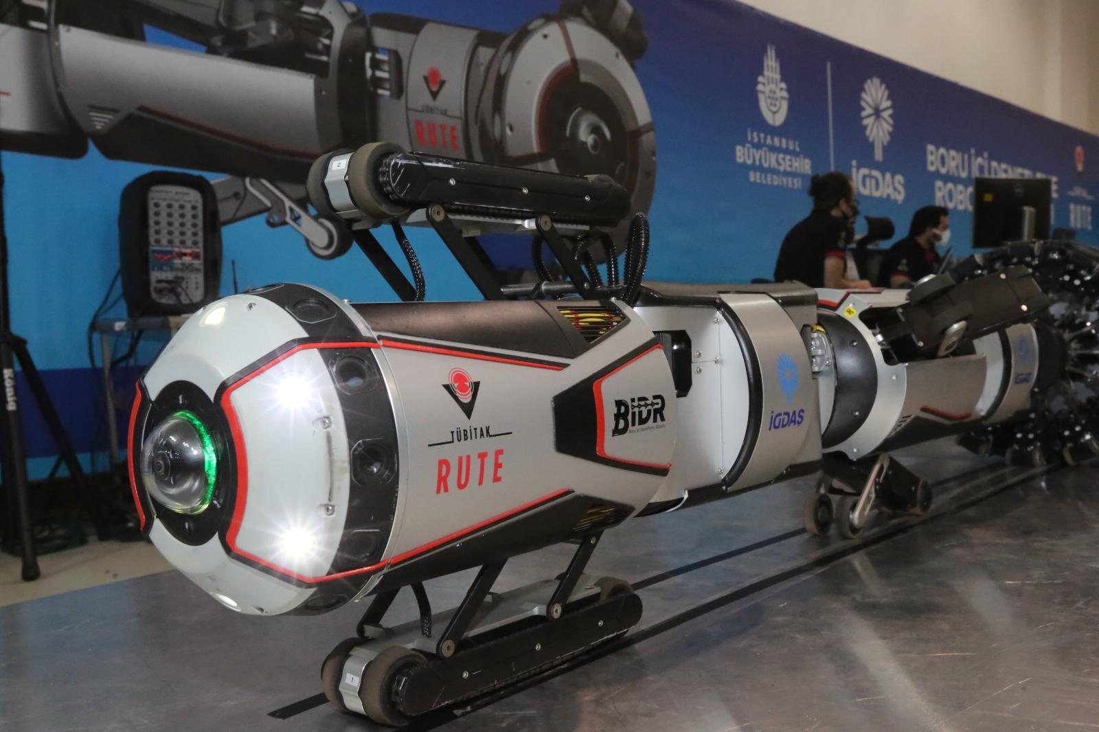 İGDAŞ'ın robotu, boruları içeriden gözleyecek