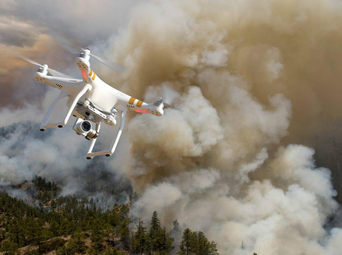 Orman yangınlarıyla mücadeleye 'dronlu' destek 1