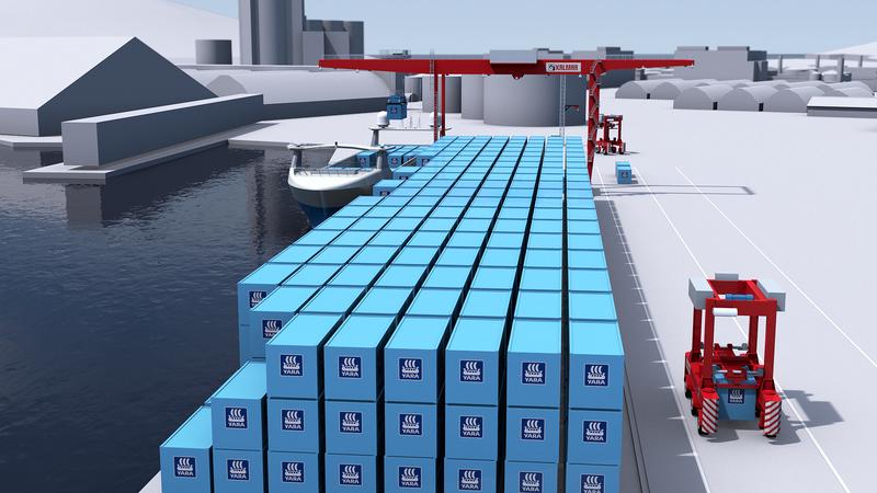 Elektrik motorlu, personelsiz kargo gemisi ilk seferine hazırlanıyor 5
