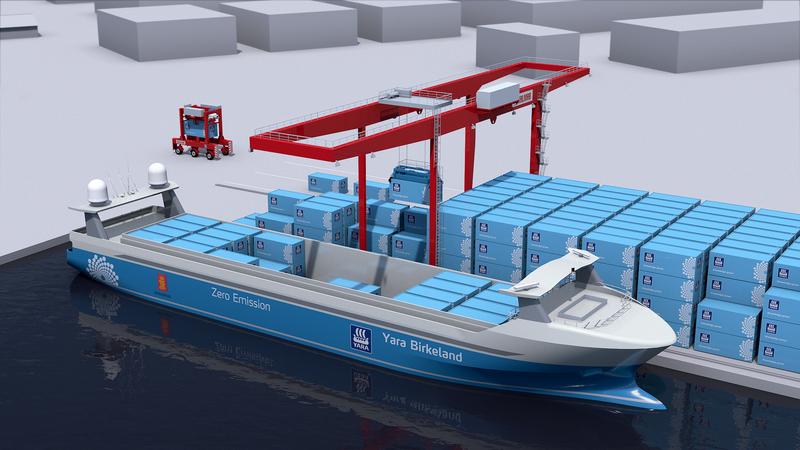 Elektrik motorlu, personelsiz kargo gemisi ilk seferine hazırlanıyor 7