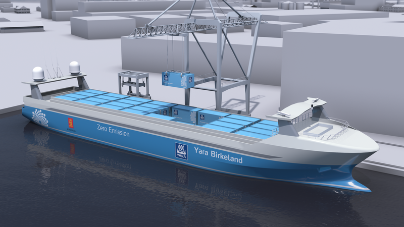 Elektrik motorlu, personelsiz kargo gemisi ilk seferine hazırlanıyor 8