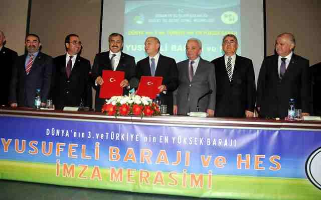 Limak-Cengiz-Kolin`den, Türkiye`nin en yüksek barajına imza