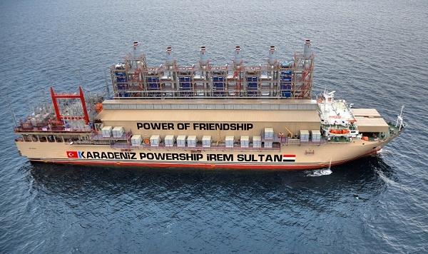 Irak`ta elektriğin %10`u Türk gemilerinden
