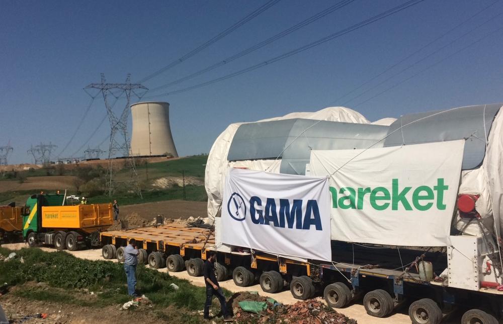 Hamitabat'ın 600 MW'lik yeni türbini sahaya indi