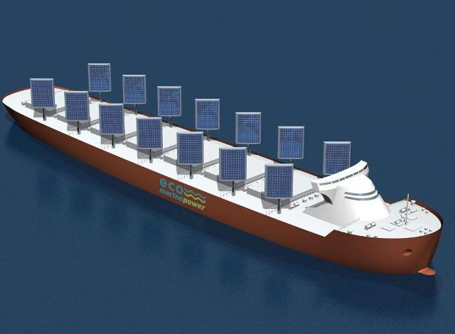 Bu gemi hem rüzgar hem güneş enerjisi kullanıyor