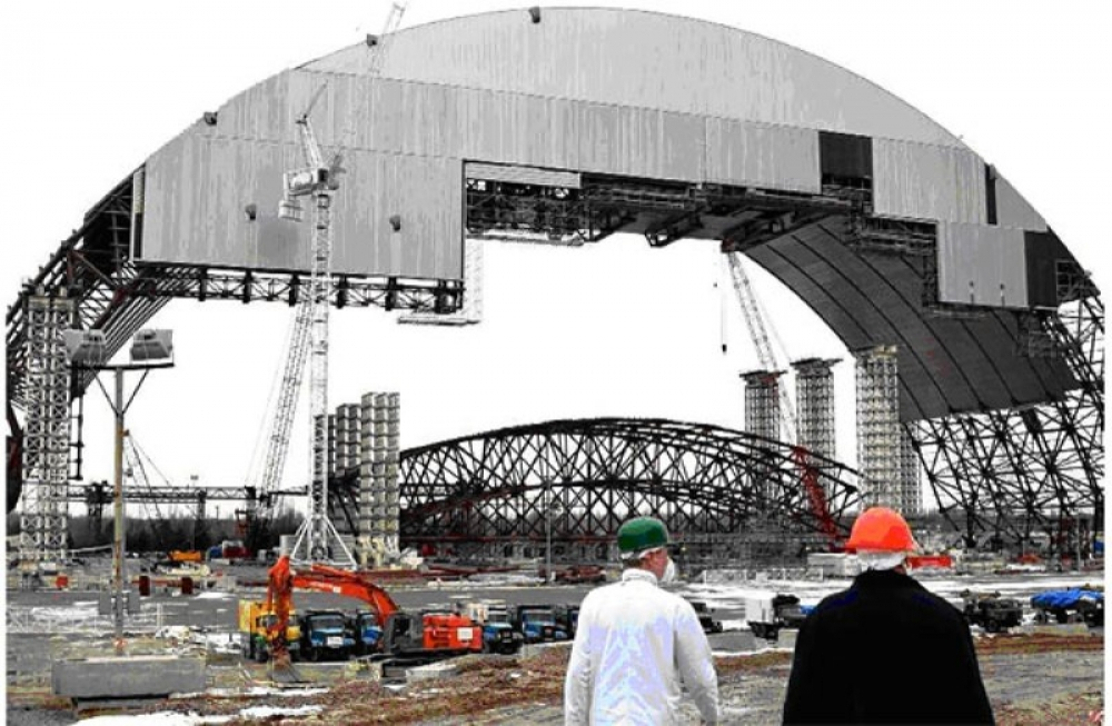 Çernobil enkazına dev çadırlı koruma