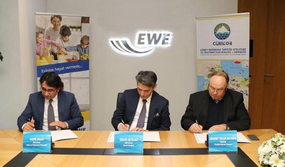 EWE'den Güney Marmara otelleriyle elektrik anlaşması