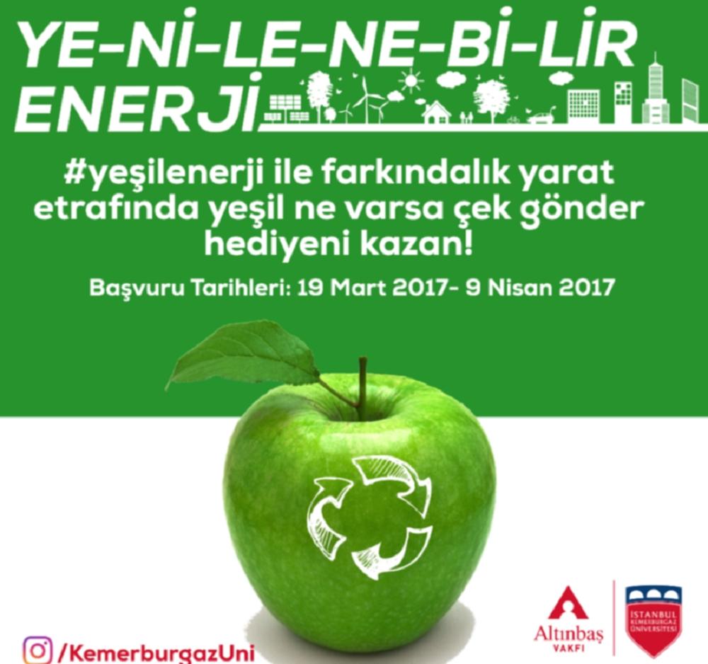 """İKBÜ'den """"Yeşil Enerji"""" fotoğraf yarışması"""