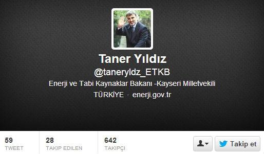 Enerji Bakanı, sahte twitter hesabının peşine düştü