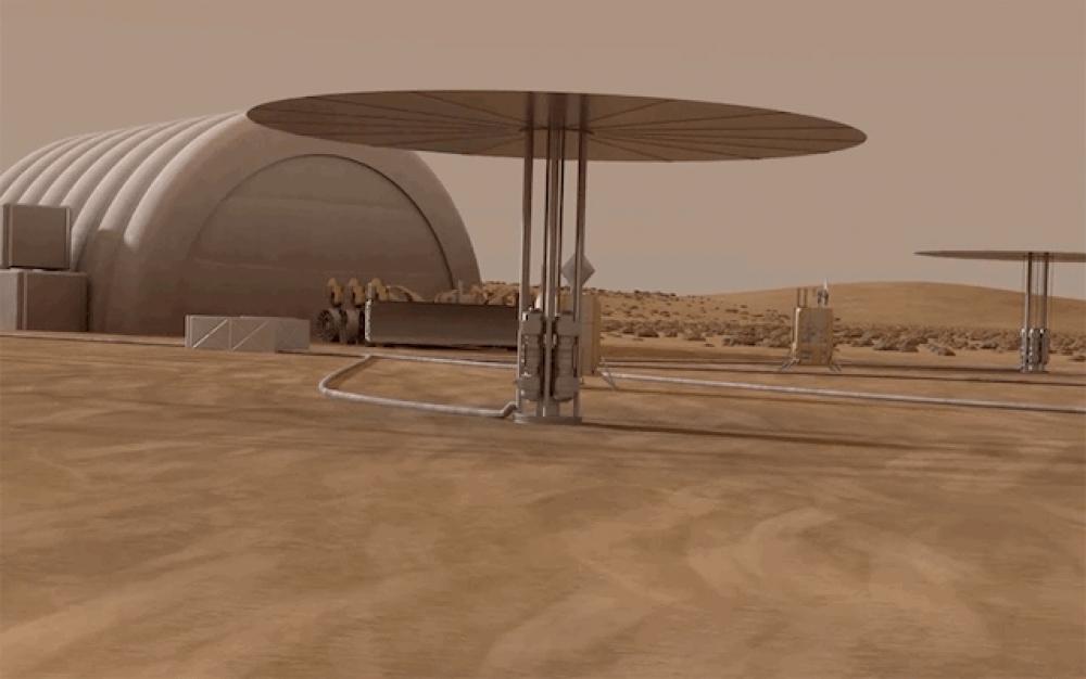 NASA'nın Mars üssüne mini nükleer reaktörlü enerji çözümü