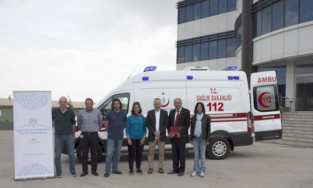 TANAP, hibe ettiği ambulansları teslim etmeye başladı