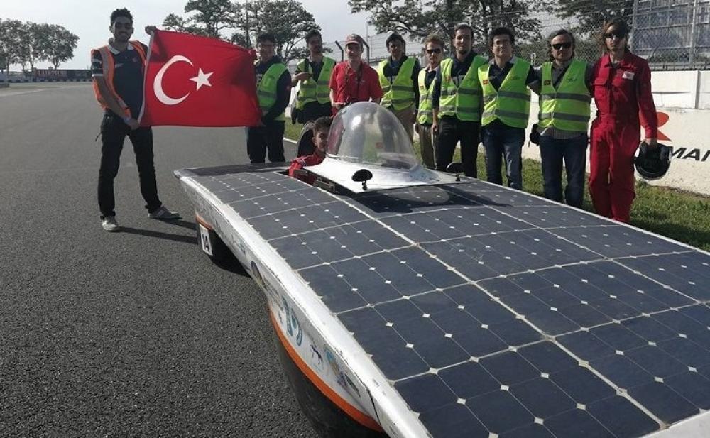 Yerli güneş enerjili araç Fransa'da ikinci oldu