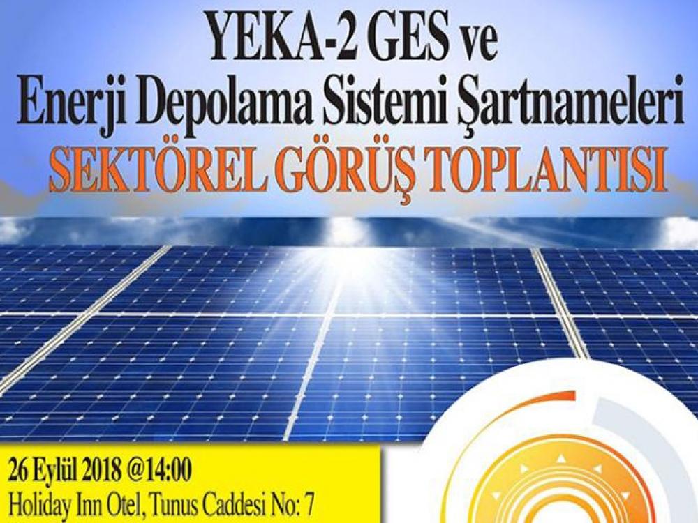 GÜNDER YEKA-2 GES için sektör toplantısı düzenliyor