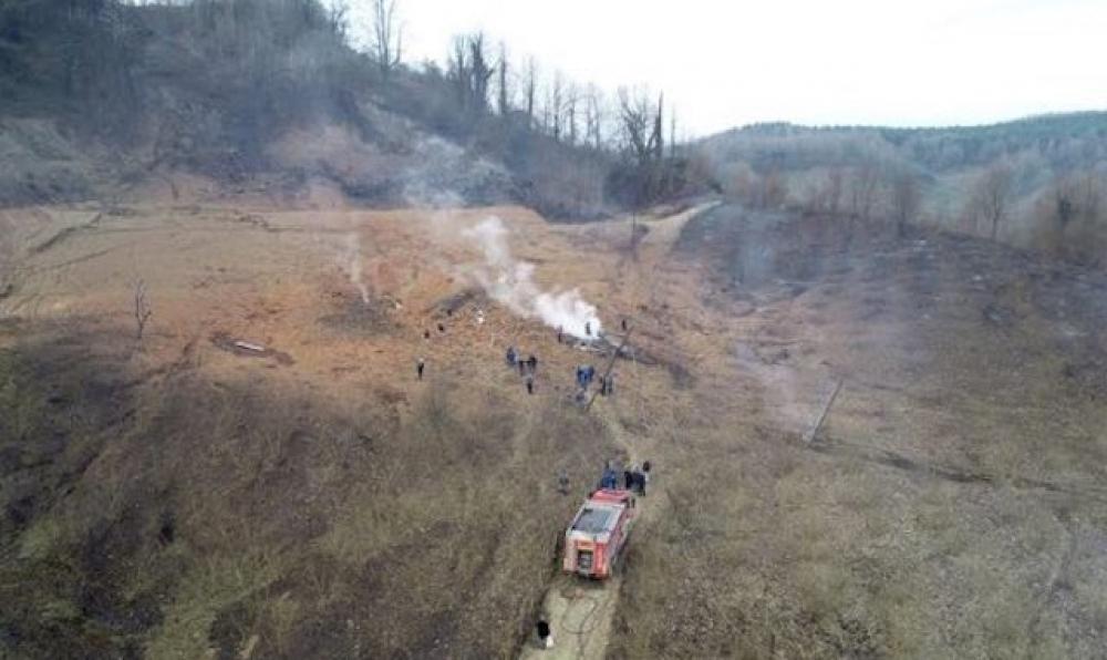 Arifiye'de doğalgaz patlaması!