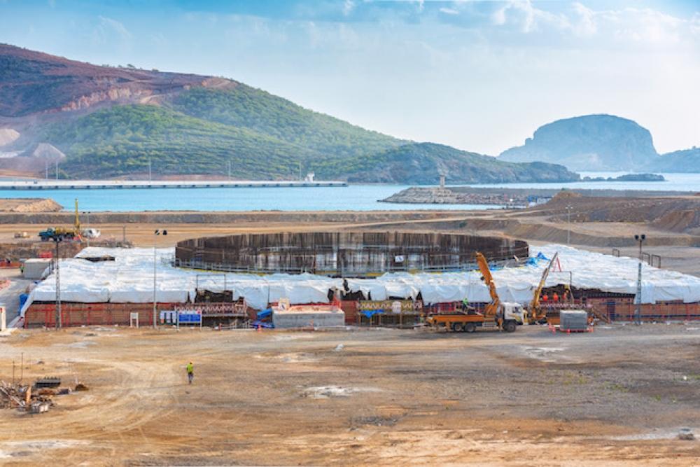 Akkuyu NGS'nin temel inşaatı tamamlanıyor
