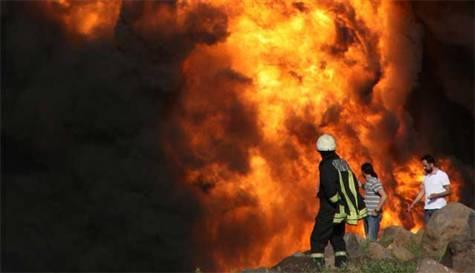 Diyarbakır`da boru hattında patlama