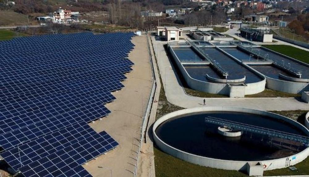 Çanakkale Belediyesi atıksu arıtma tesisinin elektriği güneşten