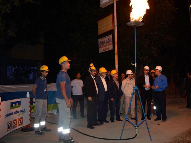 Doğubeyazıt'a doğalgaz akışı başladı