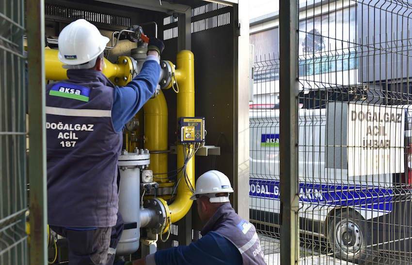 Aksa Manisa Kırkağaç'a da doğalgaz götürecek