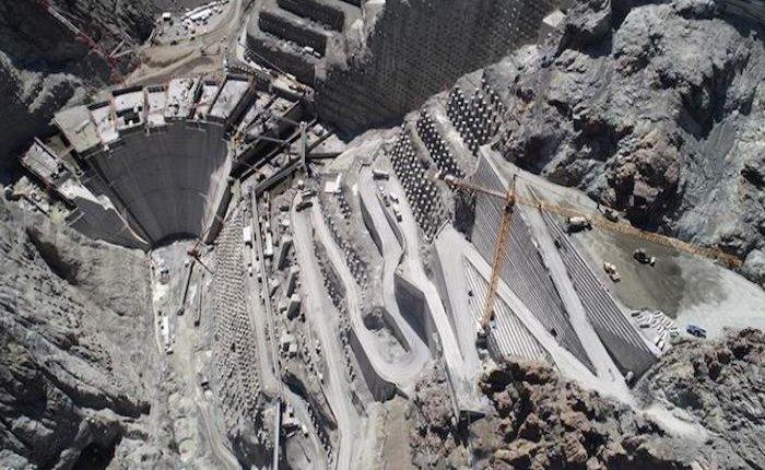 Yusufeli Barajı gövdesinin yüzde 25'i tamamlandı