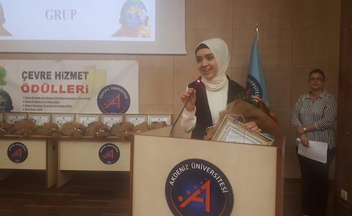 Akdeniz Üniversitesi'nden Mimsan'a çevre hizmet ödülü