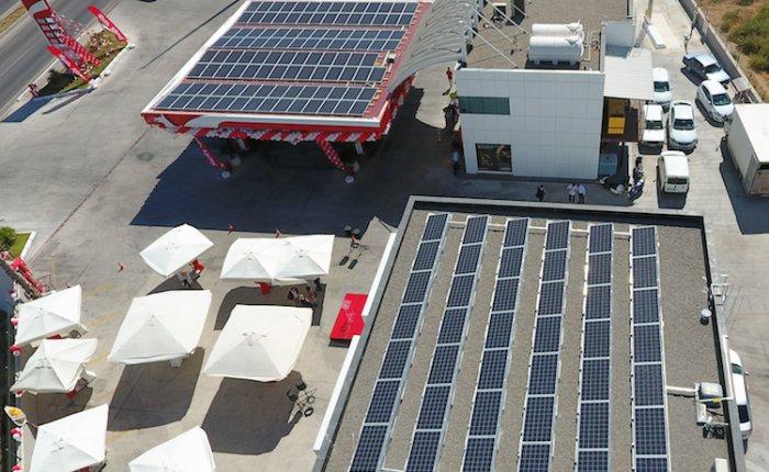 PO ilk güneş çatılı istasyonunu Bodrum'da açtı