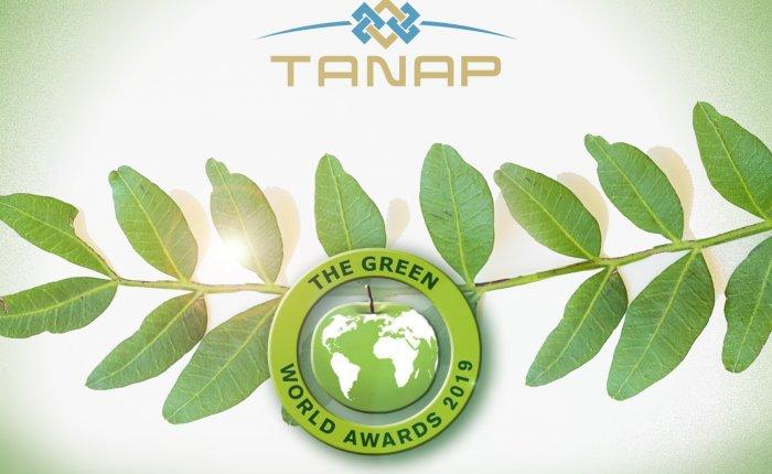 TANAP'a Uluslararası Çevre Ödülü