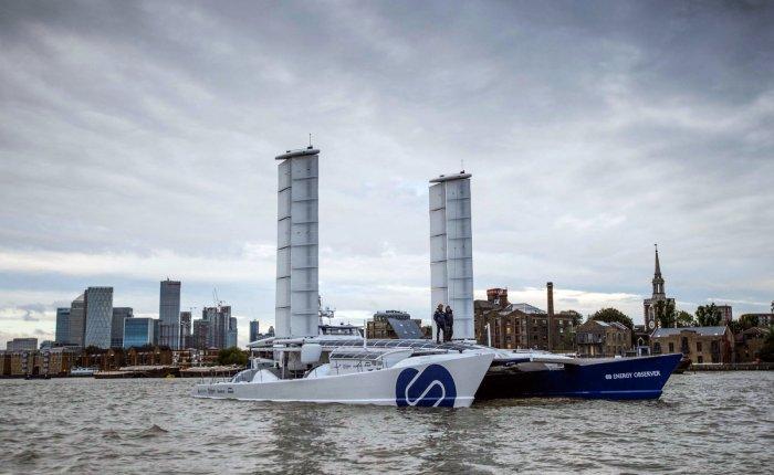 Dünya turundaki hidrojen enerjili ilk tekne Londra'da