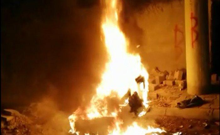 Mardin Nusaybin'de kaçak elektriği önleyici panolar yakılarak tahrip edildi