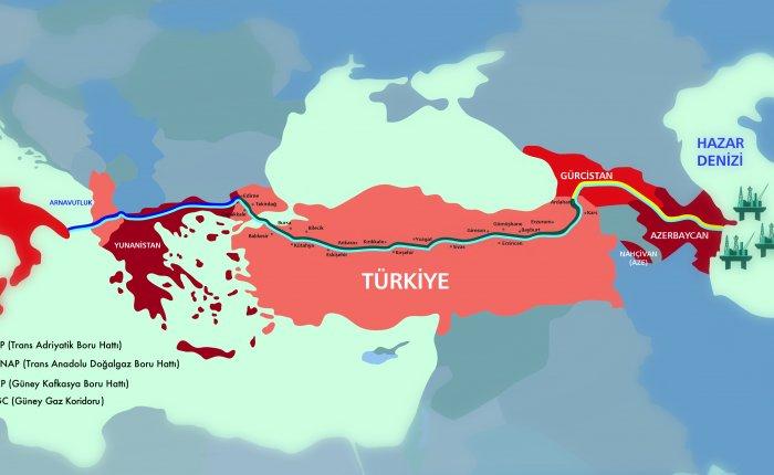 TANAP'la gelen Azeri gazı TAP hattına basıldı