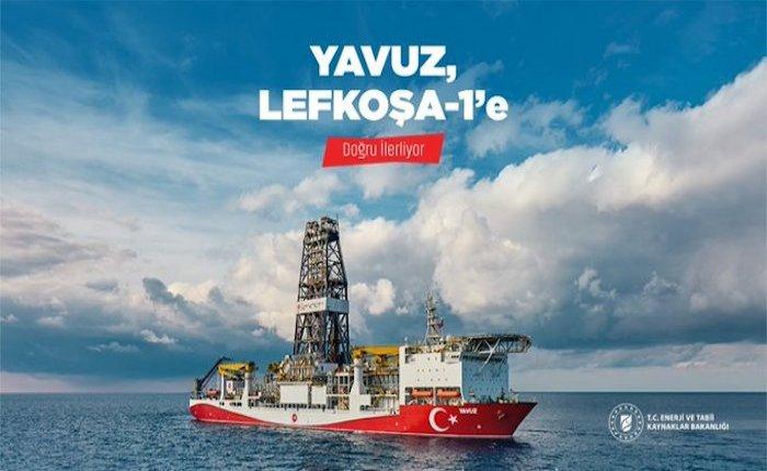 Yavuz sondaj gemisinin yeni durağı Lefkoşa-1