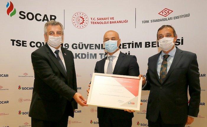 SOCAR Türkiye'nin İzmir'deki tesislerine güvenli üretim tescili