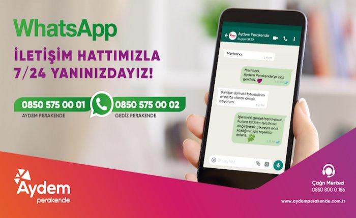 Aydem ve Gediz Perakende WhatsApp ile de hizmet verecek
