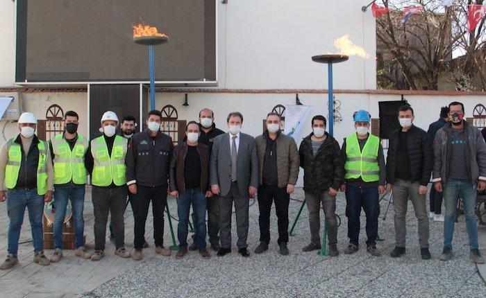İzmir Ulucak, doğal gaza kavuştu