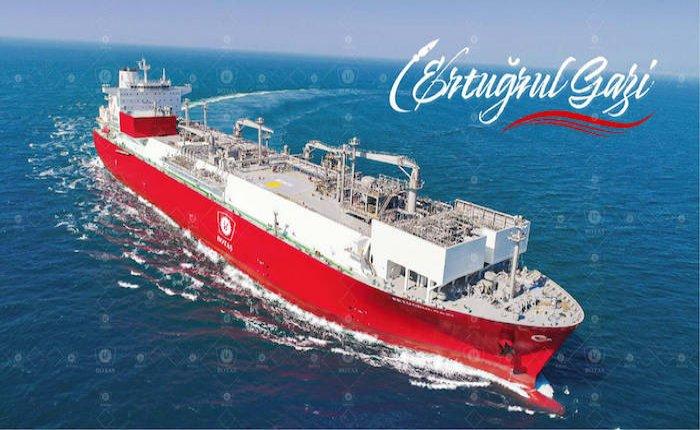 Türkiye'nin ilk FSRU Gemisi Ertuğrul Gazi Türkiye'de