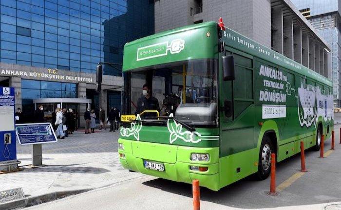 Ankara'da belediye otobüsleri elektrikliye dönüştürülecek