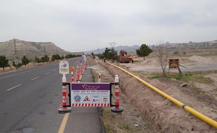 Kapadokya'nın üç turistik beldesine doğal gaz ulaşıyor