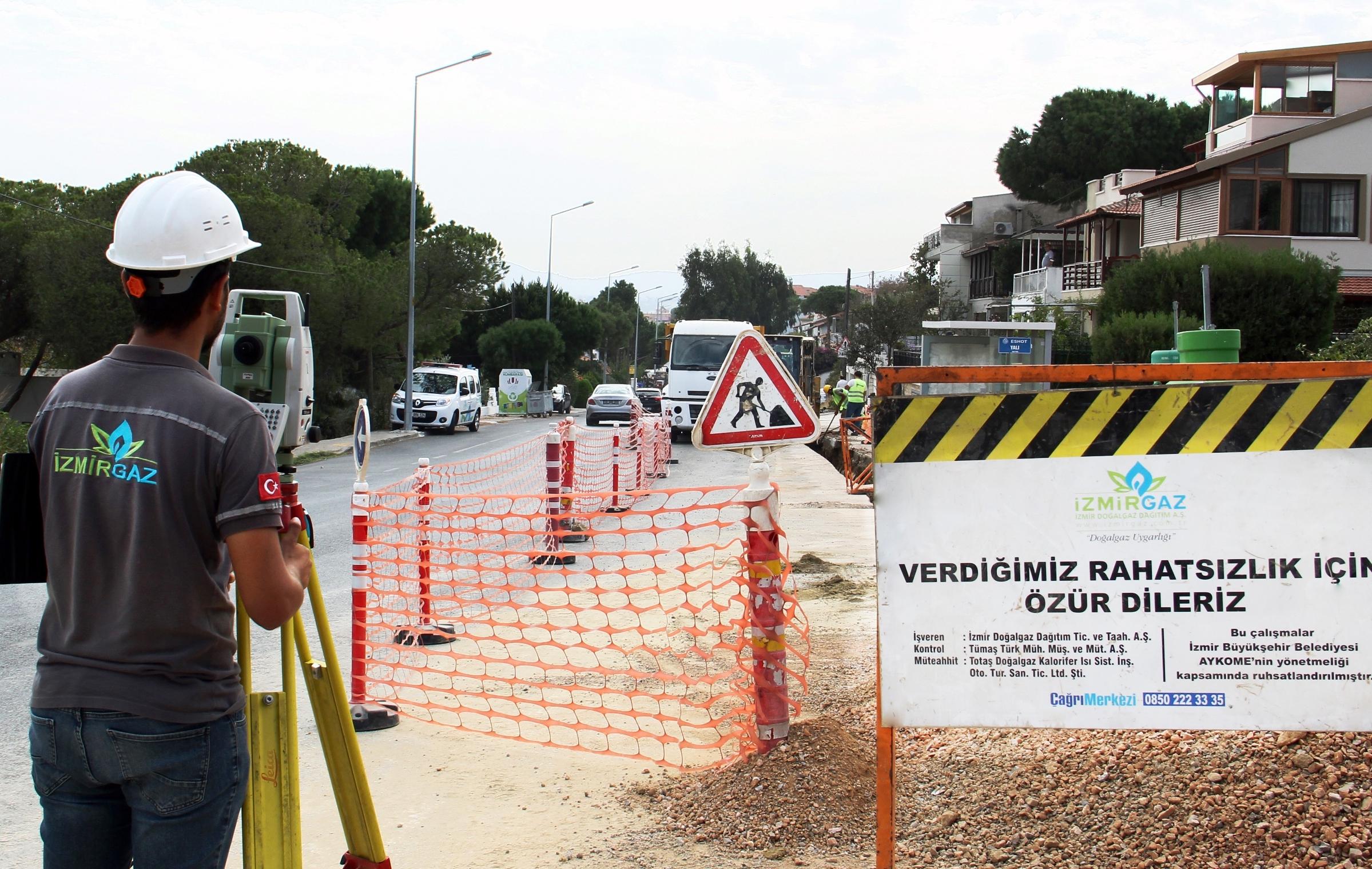 İzmir'de 305 mahalle daha gaza kavuşuyor