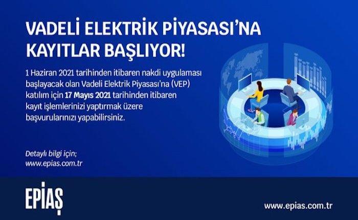Vadeli Elektrik Piyasası'na kayıtlar başlıyor