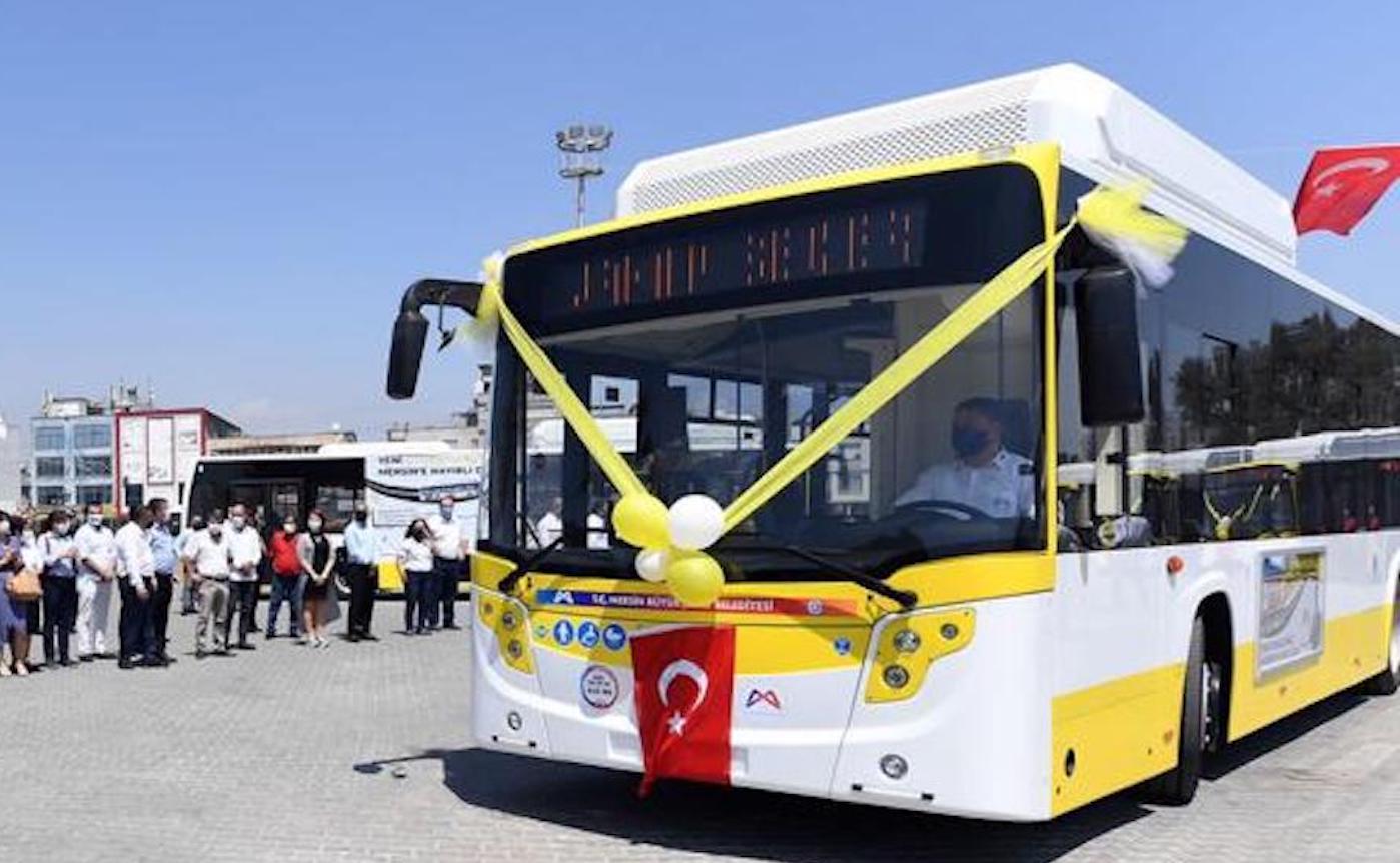 Karsan'dan Mersin'e 30 CNG'li otobüs