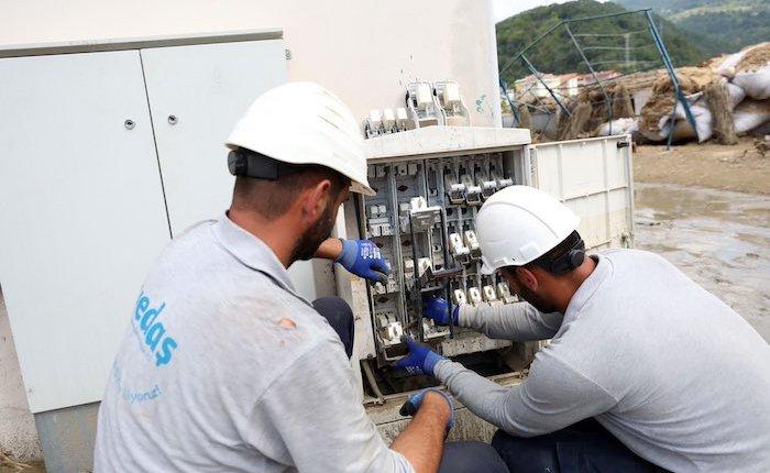 Batı Karadeniz selin ardından tamamen elektriğe kavuştu