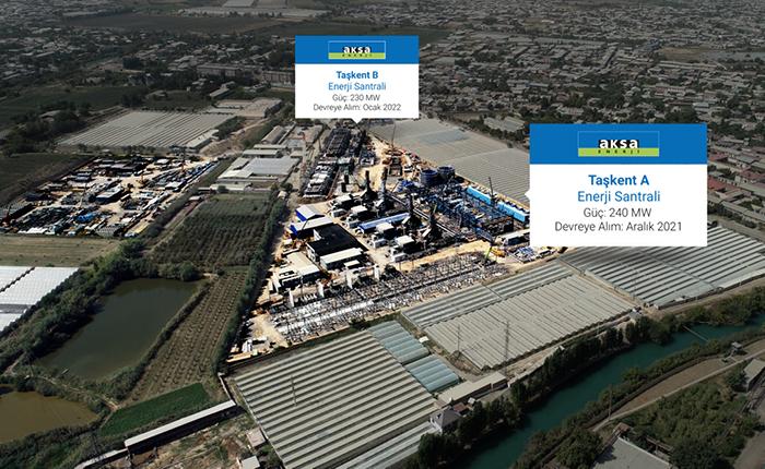 Aksa'nın Taşkent'teki 2 santrali Aralık'ta devreye girecek