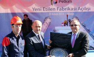 Petkim`in etilen fabrikası açıldı
