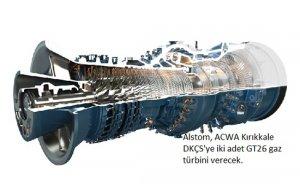 Alstom`dan ACWA Kırıkkale Santrali`ne iki gaz türbini